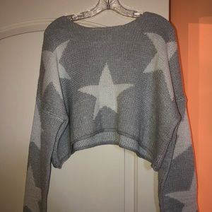 Star Cropped Sweater